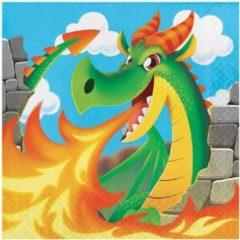 Witbaard Servetten dragons (33x33cm, 16st)