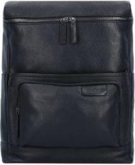 Garret Business Rucksack Leder 40 cm Laptopfach Strellson black