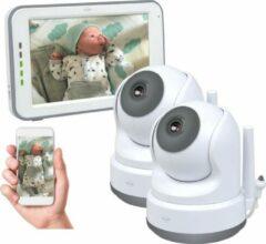 Grijze ELRO BC3000-2 Babyfoon Royale - met 12,7 cm Touchscreen Monitor HD- & App - Met extra camera - Voor 2 kinderen