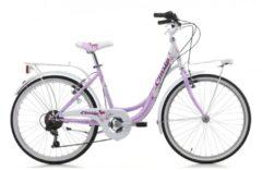 Cicli Cinzia 24 ZOLL CINZIA LIBERTY GIRL MÄDCHEN FAHRRAD 6-GANG Kinder pink-weiß