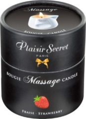 Plaisirs Secrets Massagekaars Aardbei - 80 ml
