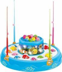 Jollity Works JollyPlay - Fishing Game met Geluid - Hengelspel - Vis spel - Blauw