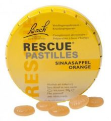 Bach Rescue Remedy Pastilles - 50 gr - sinaasappel - Voedingssupplement