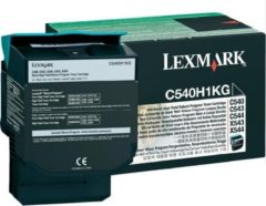 Zwarte LEXMARK C540 C543 C544 X543 X544 tonercartridge zwart high capacity 2.500 paginas 1-pack return program
