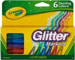 Crayola - Glittermarkers voor kinderen - Dazzling Colors - 6 stuks