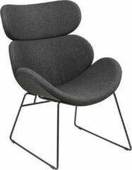 Fyn Cazy fauteuil grijs - zwart onderstel.