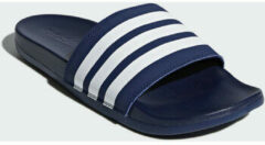 Blauwe Teenslippers adidas Adilette Cloudfoam Plus Stripes Badslippers