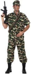 Feestwinkel Direct Camouflage Kostuum Soldaat voor mannen-Maat:M-L
