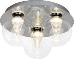 Brilliant Metropolis LED Deckenleuchte 3flg chrom/transparent easyDim