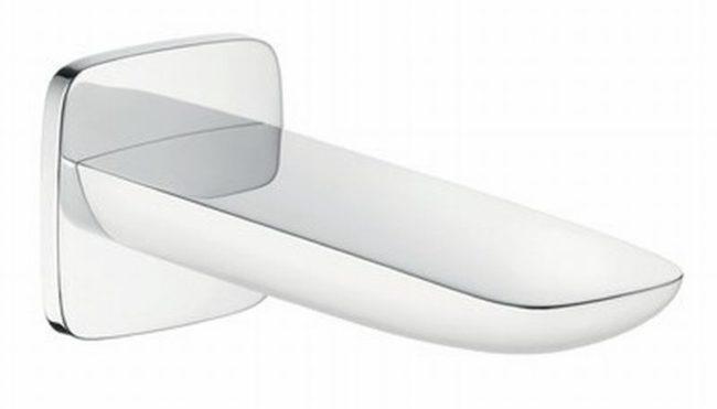 Afbeelding van Hans Grohe Hansgrohe Puravida uitloop sanitairkranen gegoten, chroom/wit, type uitloop