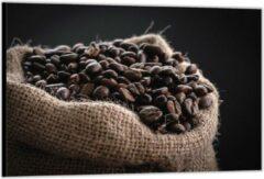 Bruine KuijsFotoprint Dibond –Jutenzak Koffiebonen– 90x60cm Foto op Aluminium (Met Ophangsysteem)
