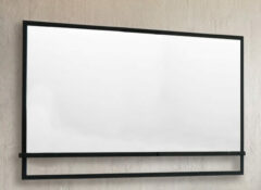 B-Stone Metal zwarte spiegel met planchet 120x70cm