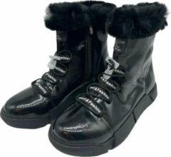 Merkloos / Sans marque La Pèra Zwarte Boots met veter Dames Laarzen Zwart Schoenen - Maat 39