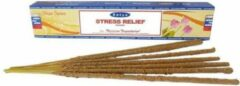Bruine Satya Nag Champa Satya Stress Relief Wierook 15gr.