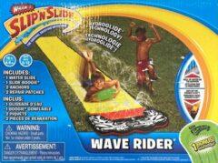 Rode WDMT® Waterglijbaan | Glijbaan buitenspeelgoed | Buikschuifbaan | 480 * 71 cm | Buiten speelplezier | Geel