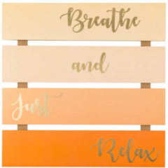 "HSE24 Print mit Goldfolie ""Breathe & just relax"""