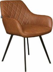Kick Eetkamerstoel Met Armleuning Karl - Cognac - Industrieel, Landelijk, Vintage & meer stijlen vind je op WoonQ.nl