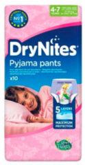 Roze Huggies DryNites Girl Luierbroekjes - Absorberende Broekjes 4-7 jaar
