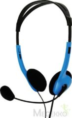 BasicXL Headset On-Ear 2x 3.5 mm Ingebouwde Microfoon 2.0 m Blauw Headset On-Ear 2x 3.5 mm Ingebouwde Microfoon 2.0 m Blauw