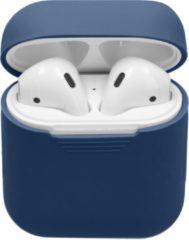 Merkloos / Sans marque IMoshion Siliconen Case Voor Airpods - Donkerblauw - Donkerblauw / Dark Blue