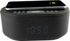 AIC 18BT wekkerradio met draadloze telefoonoplader - ingebouwde bluetooth speaker - zwart