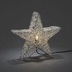 Konstsmide 3554 - Kerstster - 1 lamps E14 metaaldraad ster 40cm zilver - 230V - voor binnen