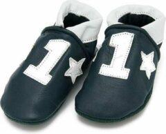 Baby Dutch Leren babyslofjes NR 1 Blauw