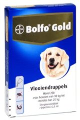 Bayer Bolfo Gold 250 Anti vlooienmiddel - Hond - 10 Tot 25 kg - 2 pipetten