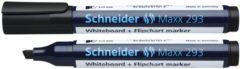 Boardmarker Schneider Maxx 293 beitelpunt 2-5 mm zwart