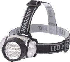 Quani LED Hoofdlamp - Igna Heady - Waterdicht - 35 Meter - Kantelbaar - 18 LED's - 1.1W - Zilver | Vervangt 9W