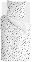 Walra Silver Spots - Dekbedovertrek - Eenpersoons - 140x200/220 cm + 1 kussensloop 60x70 cm - Wit