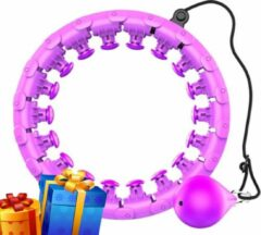 Unede Hula Hoop Hoela hoep Paars - Fitness Gewichtsverlies - Hoelahoeps- Gewicht En Grootte - 360 Graden Massage - Valt niet! / Sinterklaas - kerst cadeau volwassenen