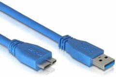 USB micro naar USB A kabel - 3.0 - 3 meter - Blauw - Delock