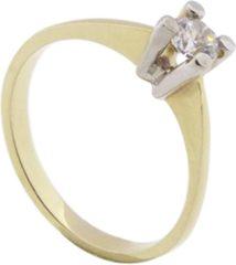 Gele Gouden ring met Christian zirkonia