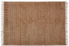 Naturelkleurige WOOOD Exclusive Vloerkleed 'Mella' 170 x 240cm, kleur Naturel