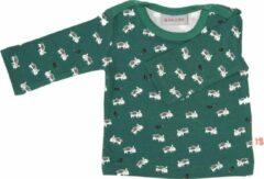Groene Froy&Dind - T-shirt Theo Lange Mouw - Boar - 3-6m