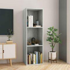 SJ interiors Boekenkast 36x30x114cm Grijs (Incl Magazine Houder) - Boeken kast - Boekenrek - badkamer rek - Woonkamer rek