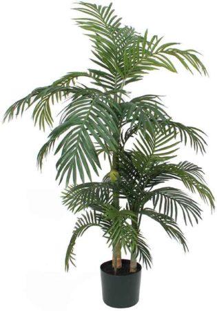 Afbeelding van Groene Mica Decorations Mica flowers - areca palm golden cane maat in cm: 150 x 100 in pot