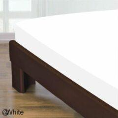 Homee Homéé® Hoeslaken gladde 100% Katoen - 90x220+30cm - wit