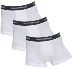 Emporio Armani 3 Pack Trunk Stretch Cotton Wit / Zwarte Band, Extra large
