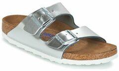 Zilveren Birkenstock - Arizona - Comfort slippers - Dames - Maat 35 - Zilver - Metallic Silver LE