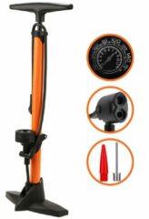Strex Fietspomp - Drukmeter - 11 Bar – Bal pomp - Oranje