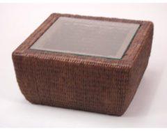 Möbel direkt online Moebel direkt online Beistelltisch handgeflochtener Tisch mit Glasplatte