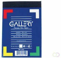 Witte Gallery notitieblok formaat 74 x 105 cm (A7) gelijnd blok van 100 vel