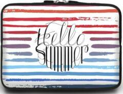 Case2go Universele Laptop Sleeve - 15.6 inch - Hello Summer
