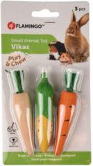 Flamingo Knaagdierspeelgoed Vikas - Speelgoed - 10x2x2 cm Groen Geel Oranje