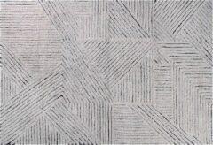 Zilveren Lorena Canals - Wollen vloerkleed -Black Chia - 170 x 240 cm