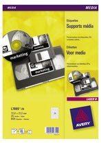 Pak van 600 etiketten Avery 72 x 21,2 mm voor numerieke cartridges L7665-25