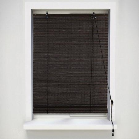 Afbeelding van Xenos Rolgordijn bamboe - donkerbruin - 60x130 cm