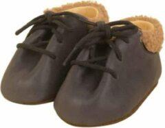 Grijze Dulis babyslofjes lace-up booties grey